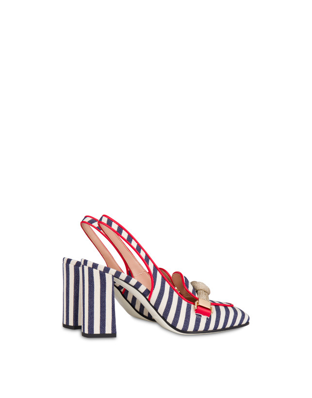 Marina striped canvas slingback Photo 3