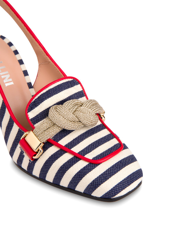 Marina striped canvas slingback Photo 4