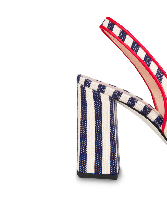 Marina striped canvas slingback Photo 5