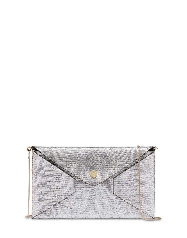 Mail clutch bag in laminated goatskin Photo 1