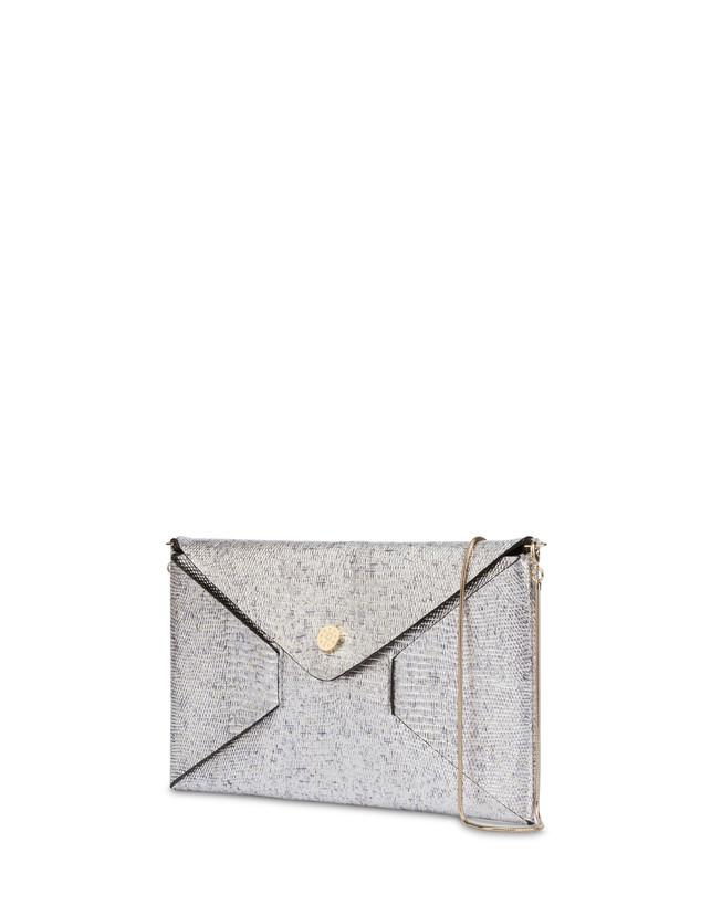 Mail clutch bag in laminated goatskin Photo 2