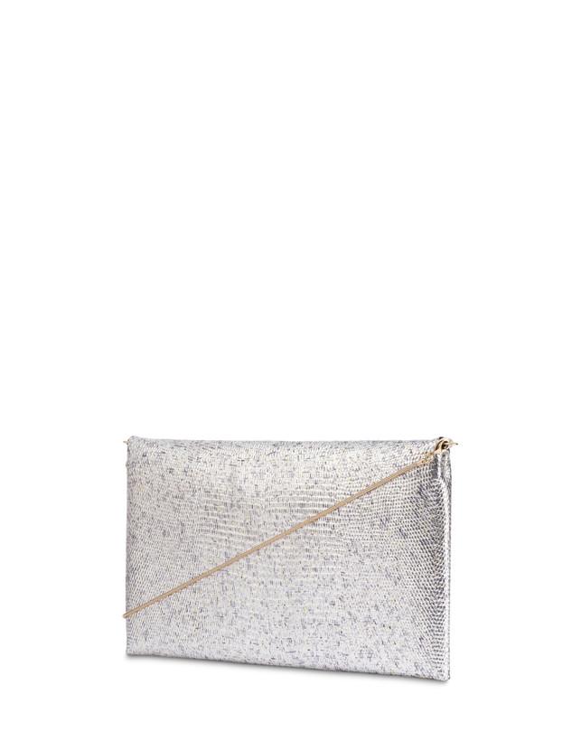 Mail clutch bag in laminated goatskin Photo 3