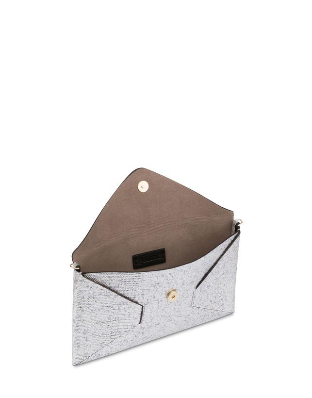 Mail clutch bag in laminated goatskin Photo 4