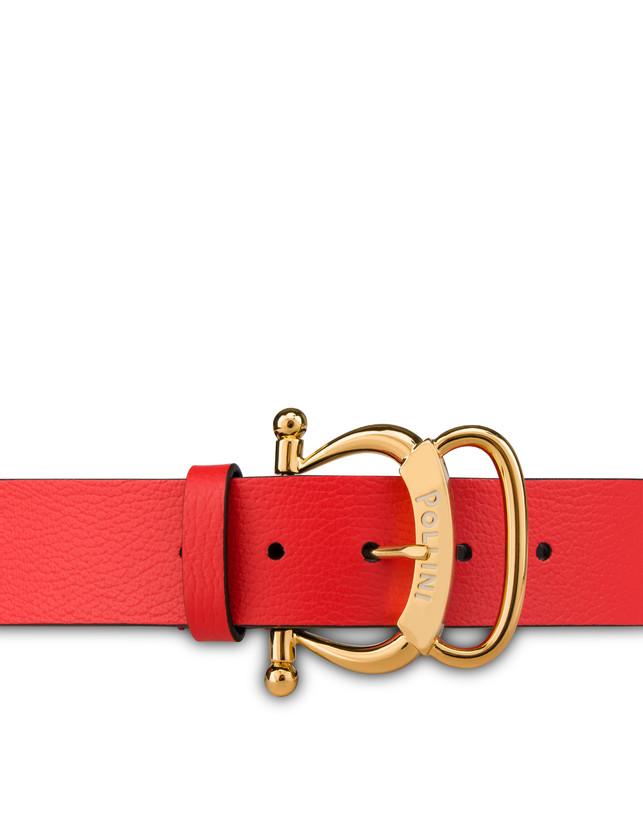 Pollini Buckle tumbled calfskin belt Photo 3