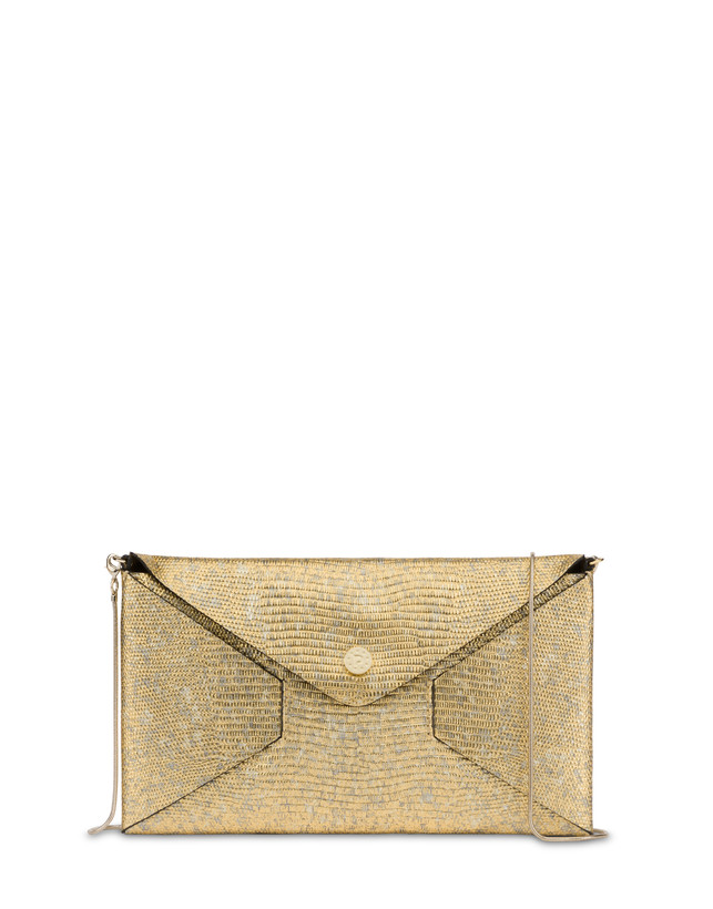 Mail clutch bag in laminated goatskin Photo 1