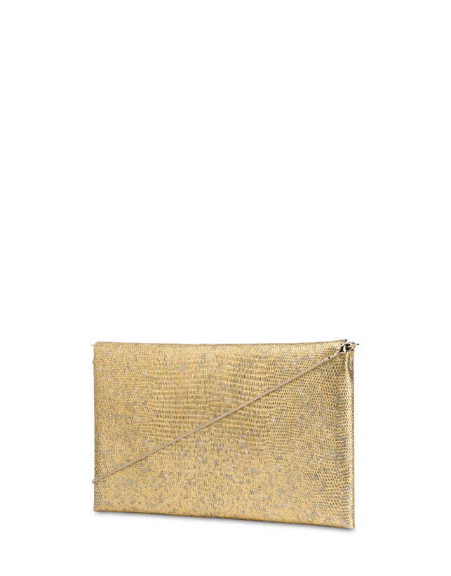Mail clutch bag in laminated goatskin Photo 3