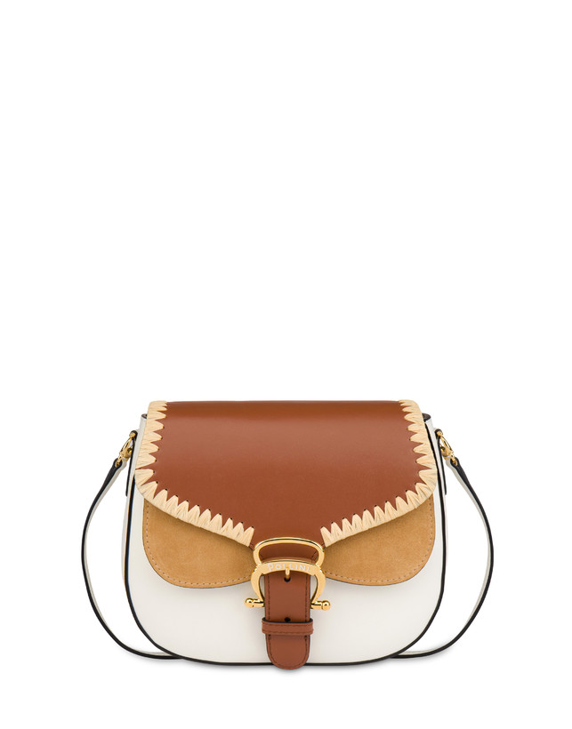 Giulietta Clamp calfskin and split leather shoulder bag Photo 1
