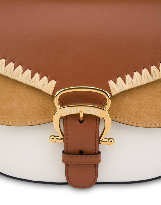 Giulietta Clamp calfskin and split leather shoulder bag Photo 5
