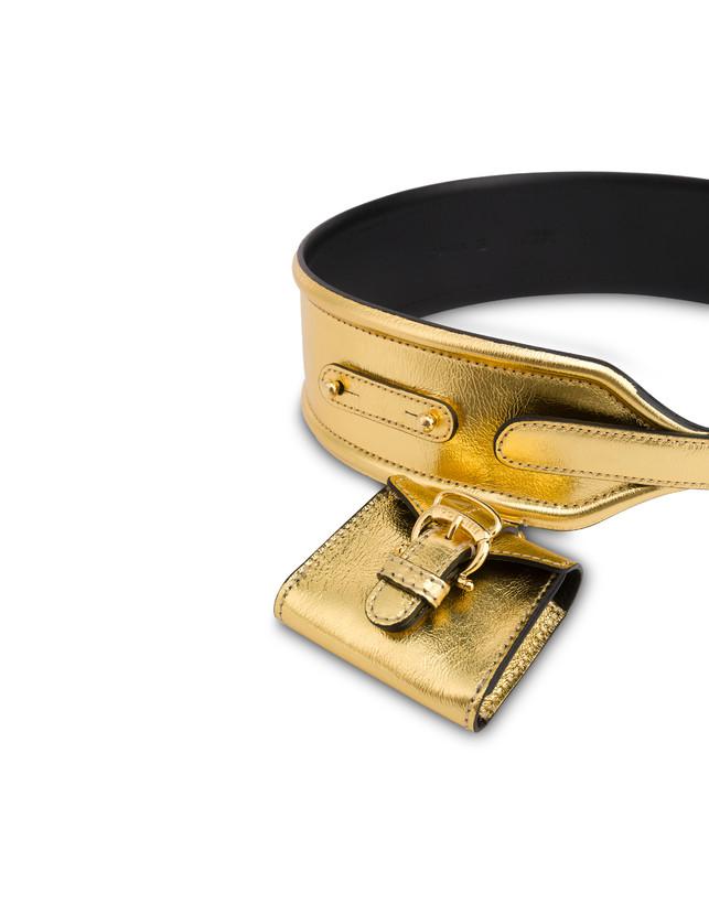 Laminated calfskin belt Photo 3