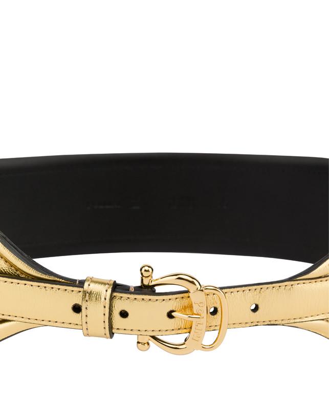 Laminated calfskin belt Photo 4