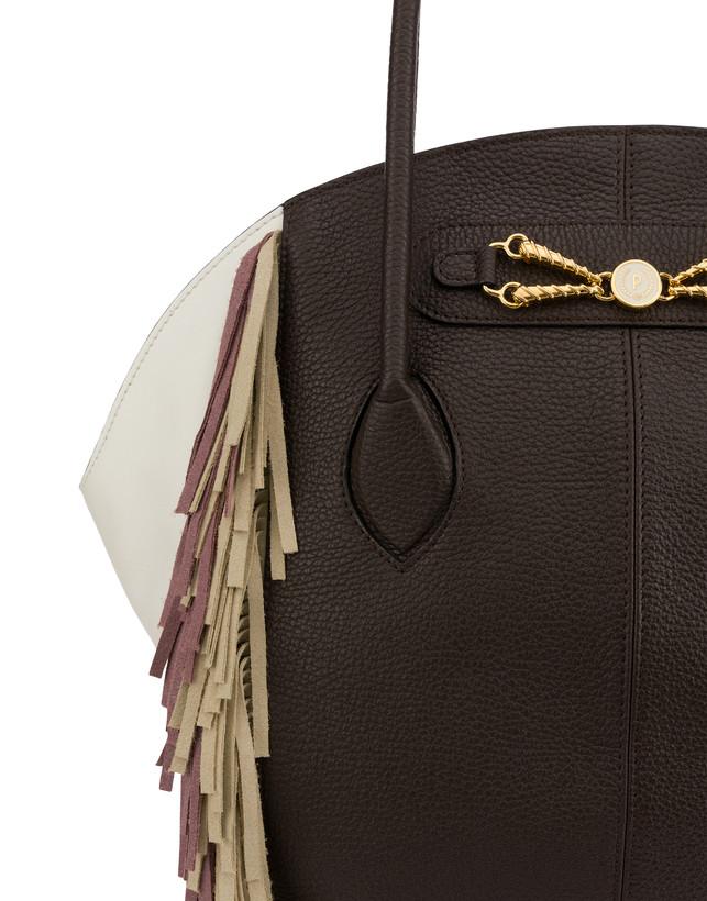 Aris double handle bag in calfskin Photo 5