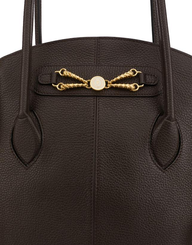 Aris double handle bag in calfskin Photo 6
