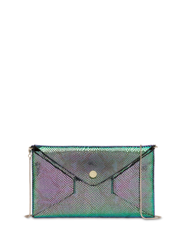 Mail pochette with iridescent python print Photo 1