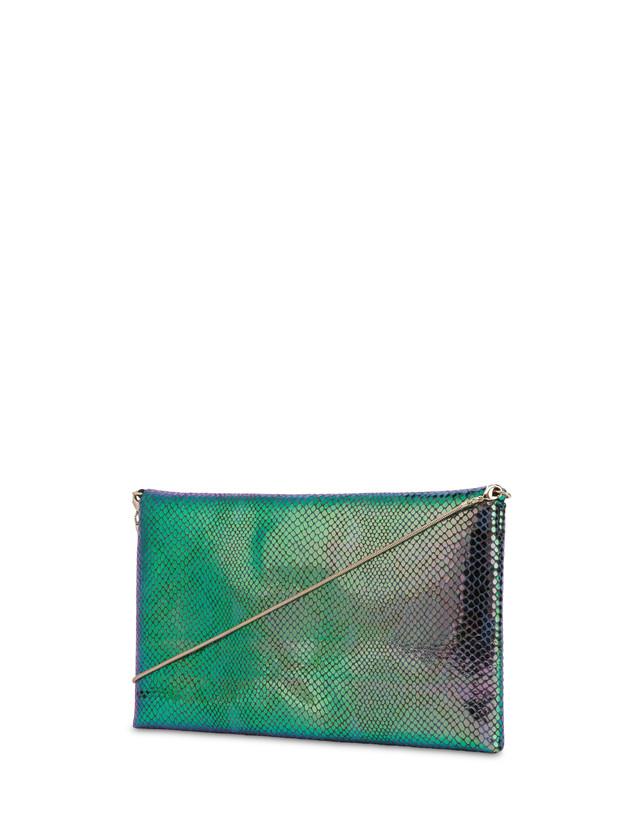 Mail pochette with iridescent python print Photo 3