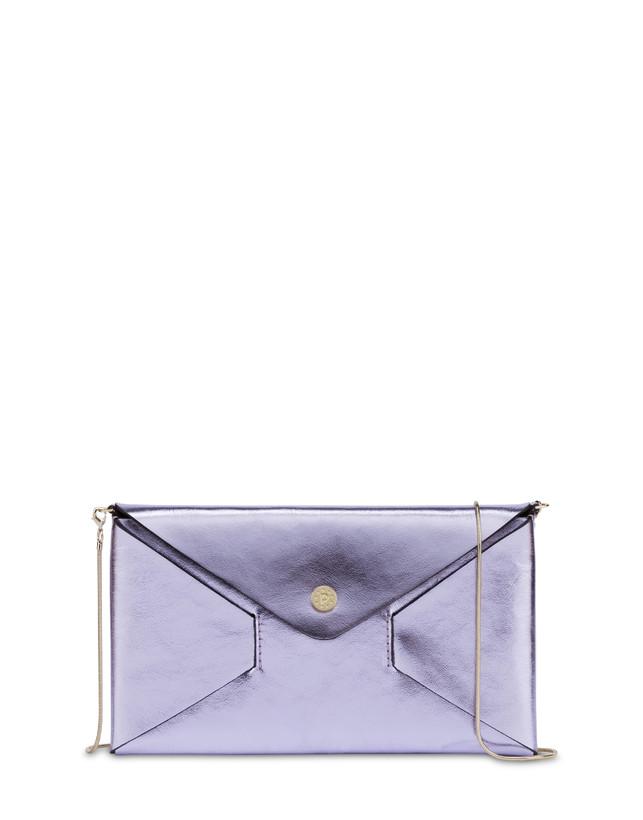 Mail pochette in laminated calfskin Photo 1