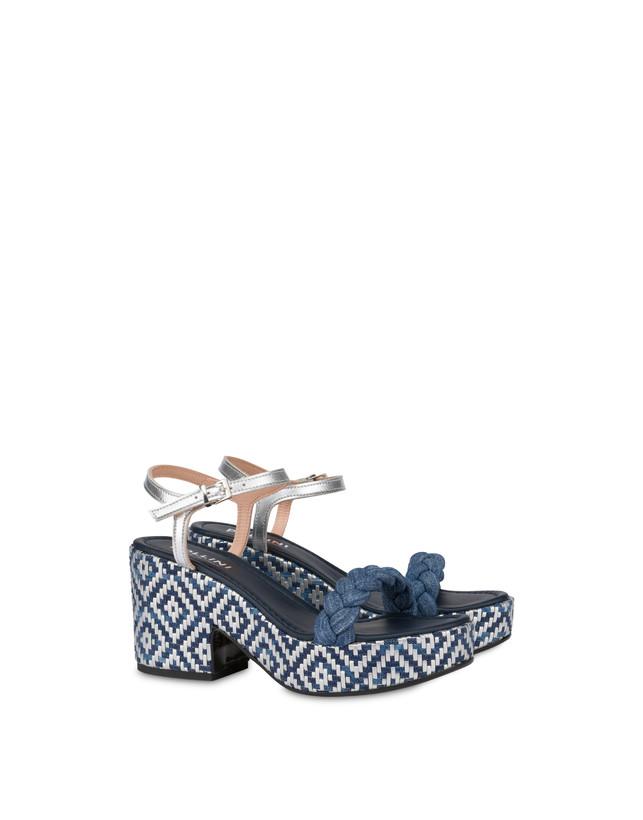 Greek Islands denim and laminate sandals Photo 2