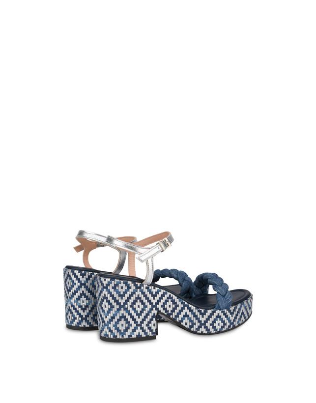 Greek Islands denim and laminate sandals Photo 3