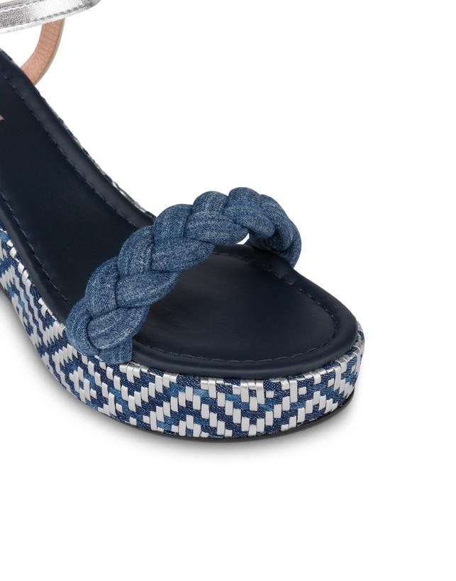 Greek Islands denim and laminate sandals Photo 4