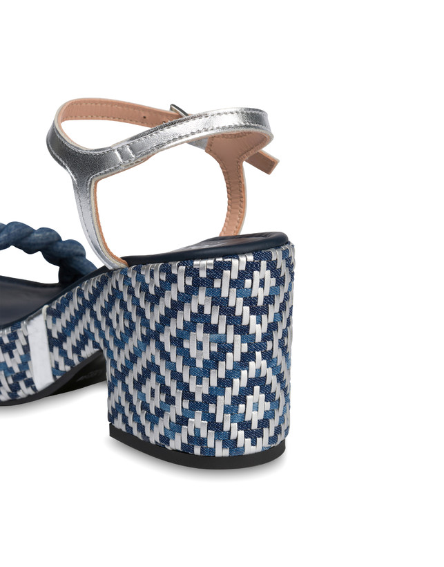 Greek Islands denim and laminate sandals Photo 5