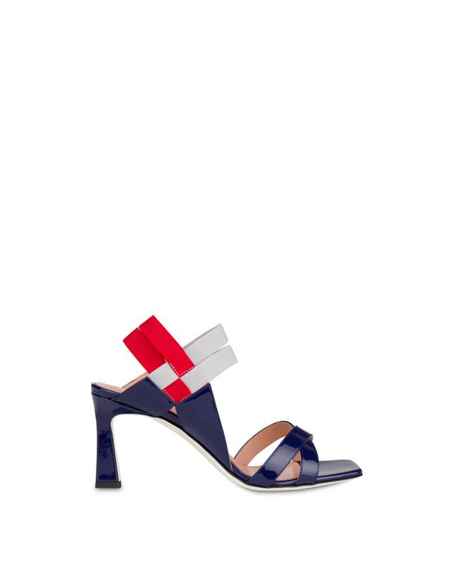 Greek Cross high patent leather sandals Photo 1