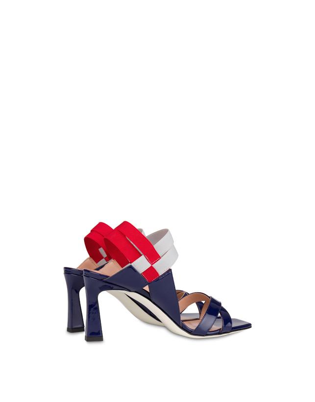Greek Cross high patent leather sandals Photo 3
