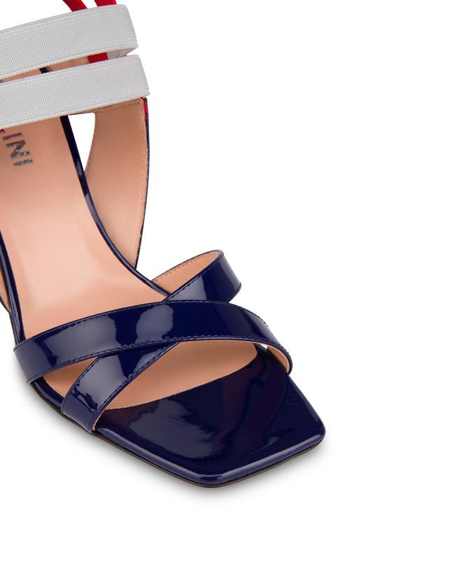 Greek Cross high patent leather sandals Photo 4