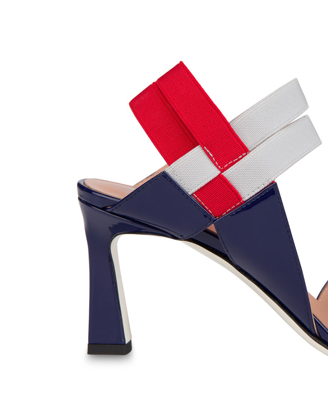 Greek Cross high patent leather sandals Photo 5