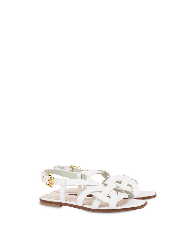 Greek Arco Wave flat cowhide sandals Photo 2
