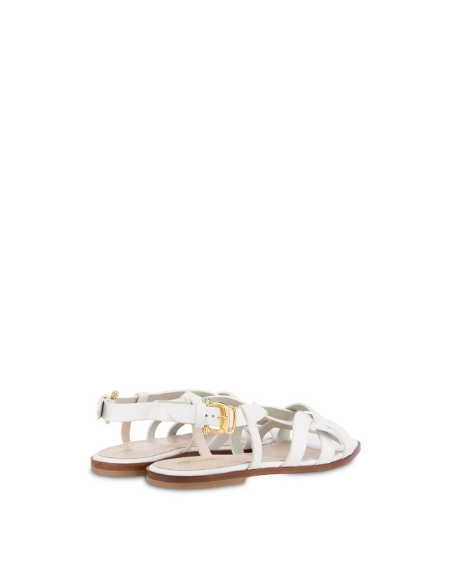 Greek Arco Wave flat cowhide sandals Photo 3
