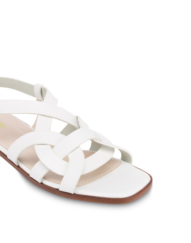 Greek Arco Wave flat cowhide sandals Photo 4