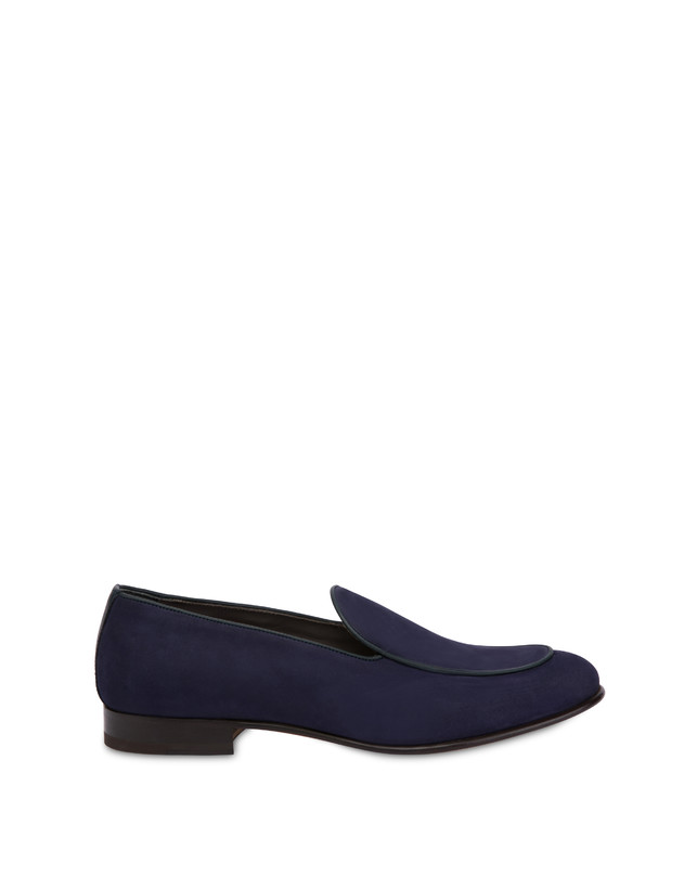 Nubuck and Azulejos calfskin loafers Photo 1