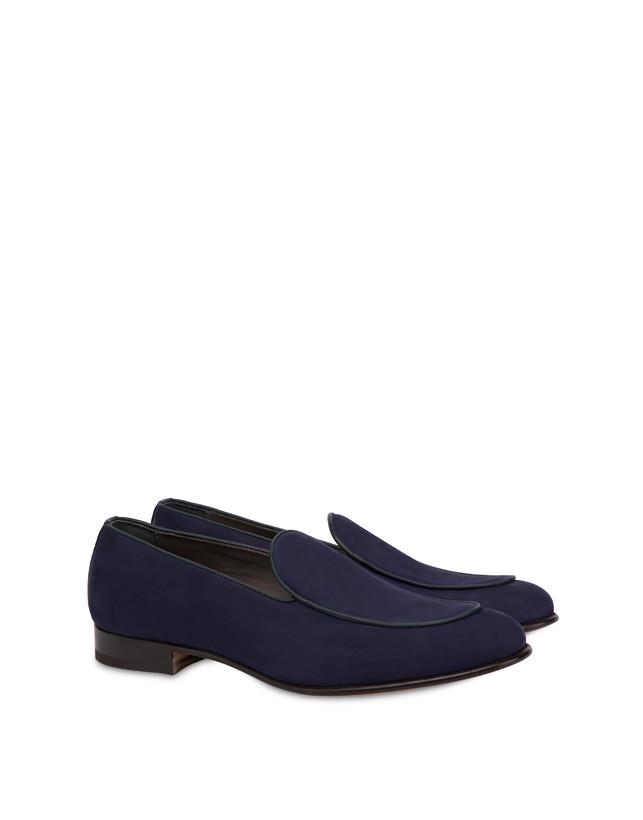 Nubuck and Azulejos calfskin loafers Photo 2