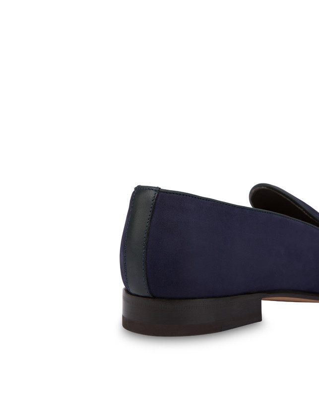 Nubuck and Azulejos calfskin loafers Photo 6