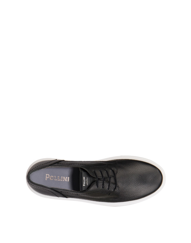 Navy calfskin sneakers Photo 3