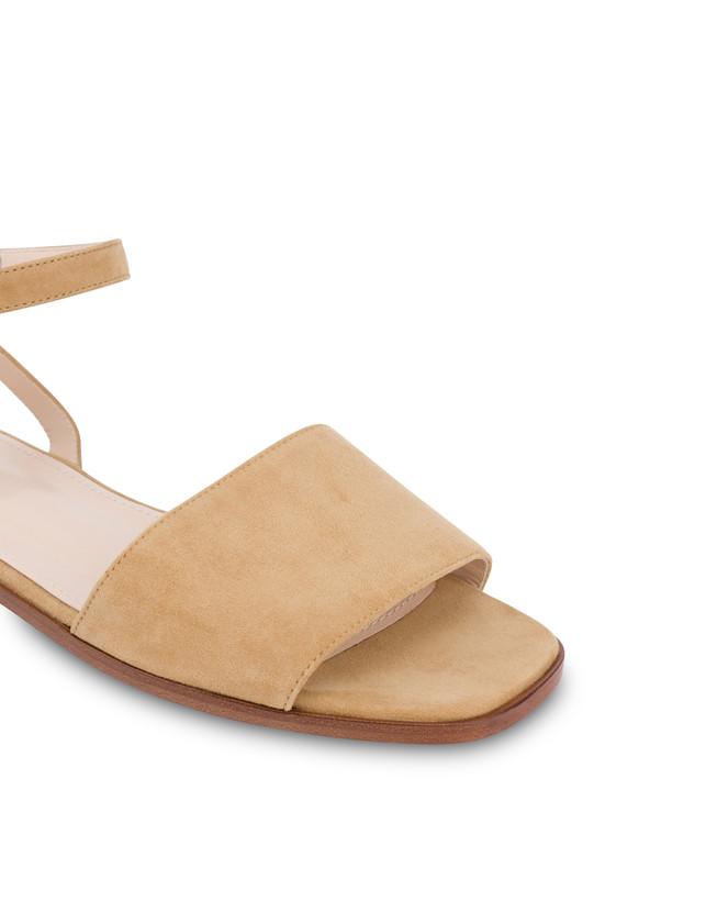 Flat suede sandals Photo 4