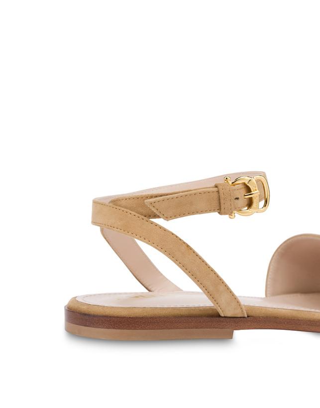Flat suede sandals Photo 5