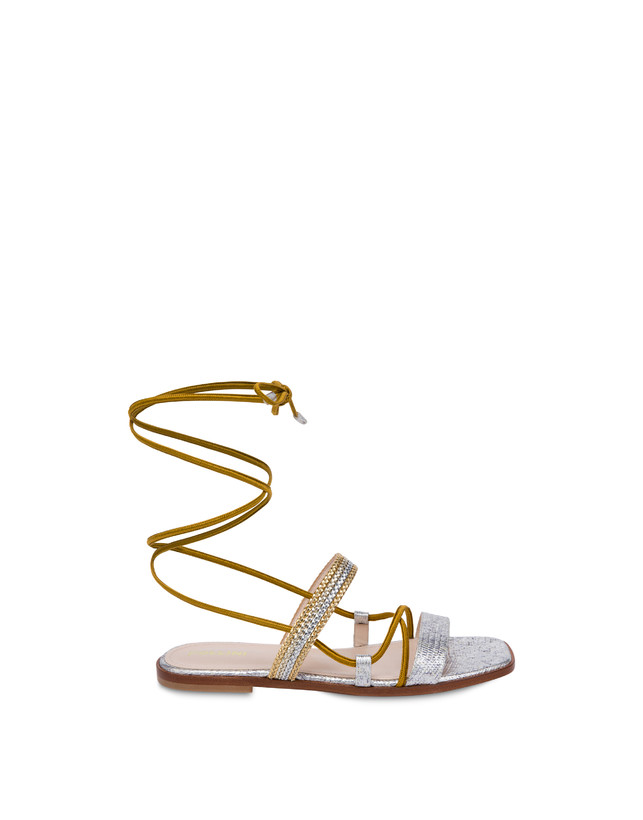 Costantinopolis flat leather sandals Photo 1