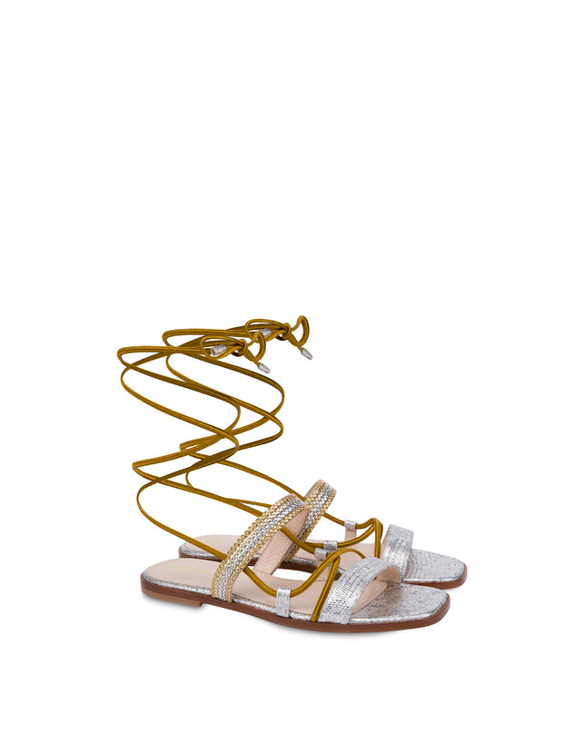 Costantinopolis flat leather sandals Photo 2