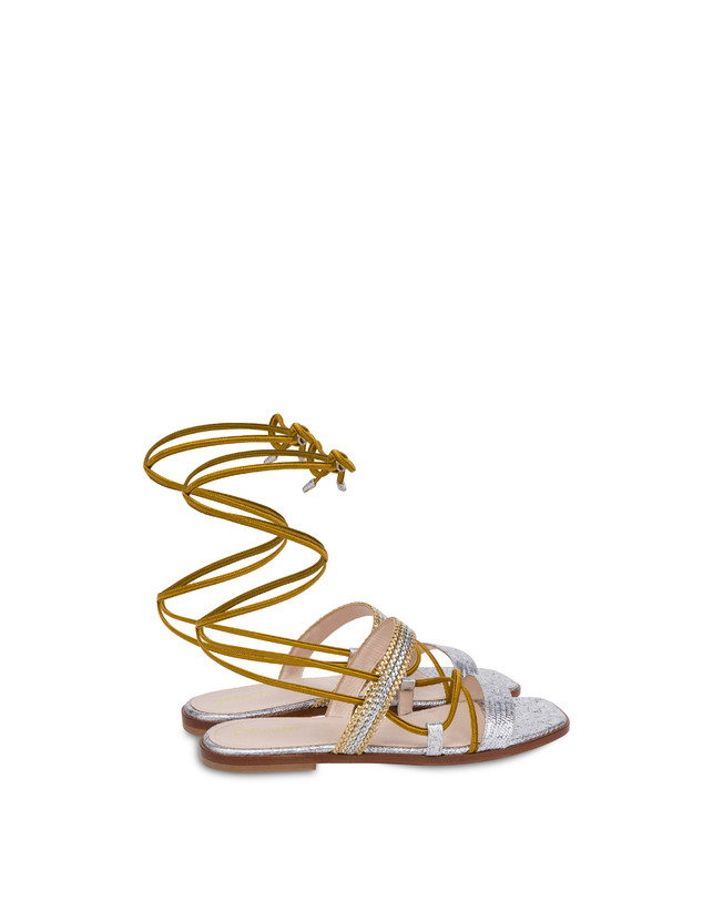 Costantinopolis flat leather sandals Photo 3