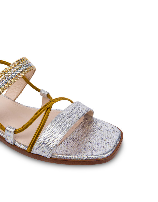 Costantinopolis flat leather sandals Photo 4