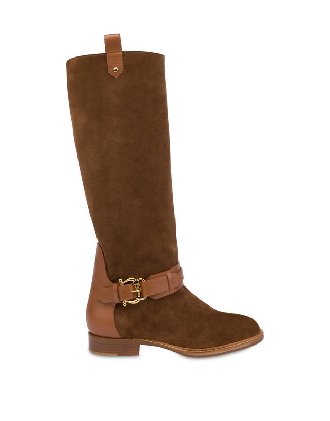 Cabiria Buckle suede knight boots Photo 1