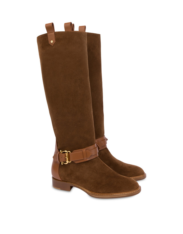 Cabiria Buckle suede knight boots Photo 2