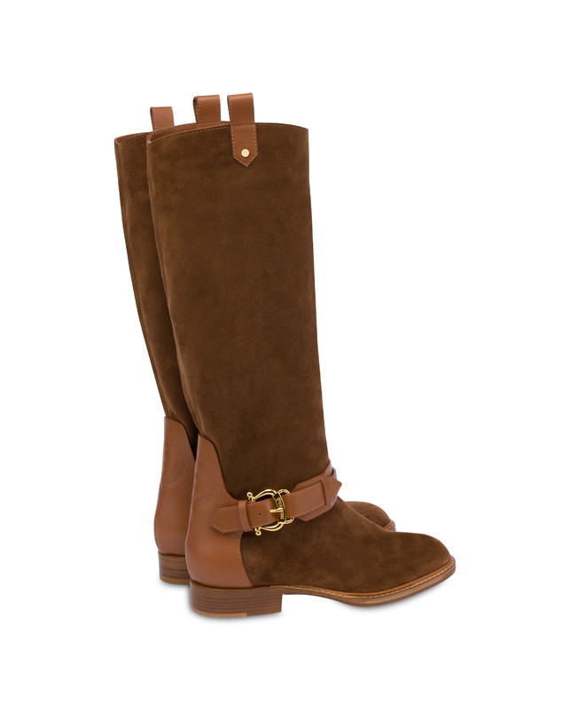 Cabiria Buckle suede knight boots Photo 3