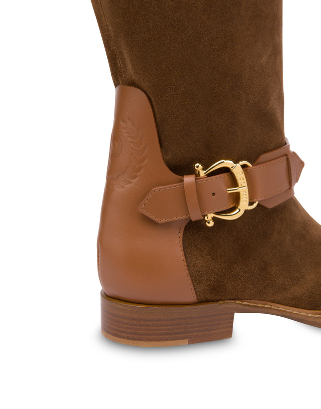 Cabiria Buckle suede knight boots Photo 4