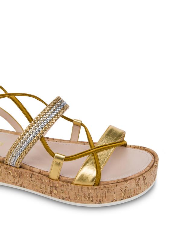 Constantinopolis laminated flatform sandals Photo 4