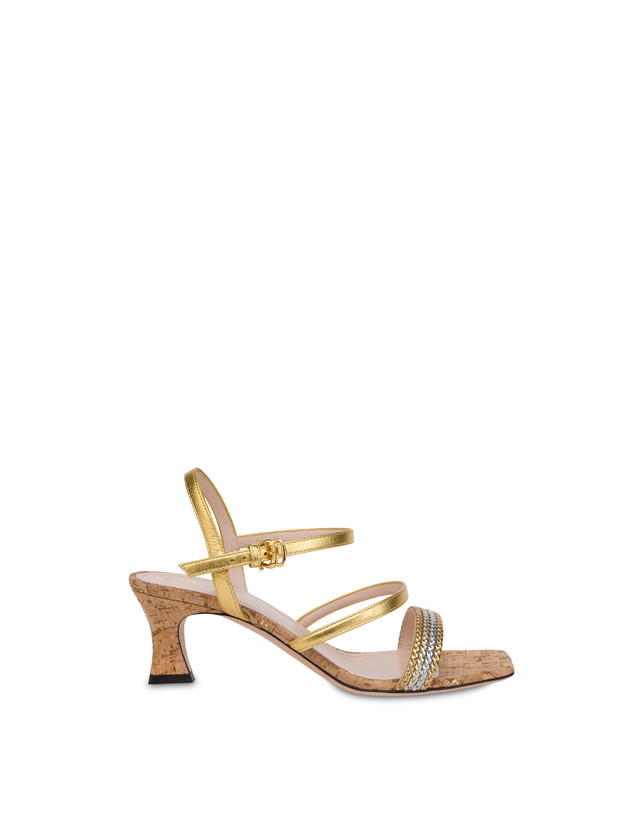 Costantinopolis laminated nappa leather sandals Photo 1