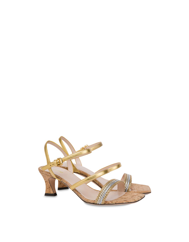 Costantinopolis laminated nappa leather sandals Photo 2