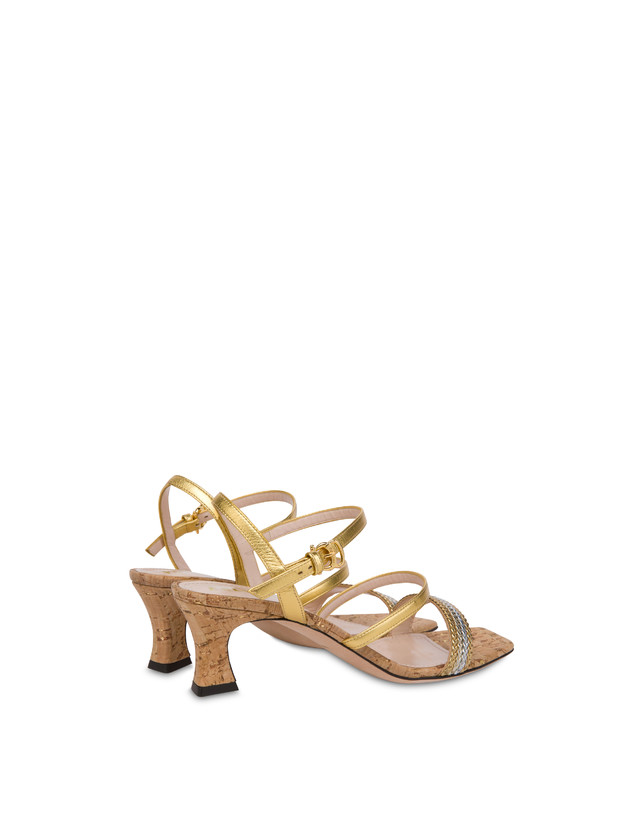 Costantinopolis laminated nappa leather sandals Photo 3