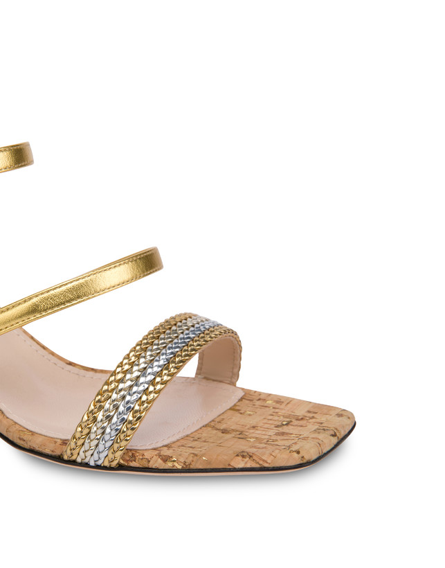 Costantinopolis laminated nappa leather sandals Photo 4