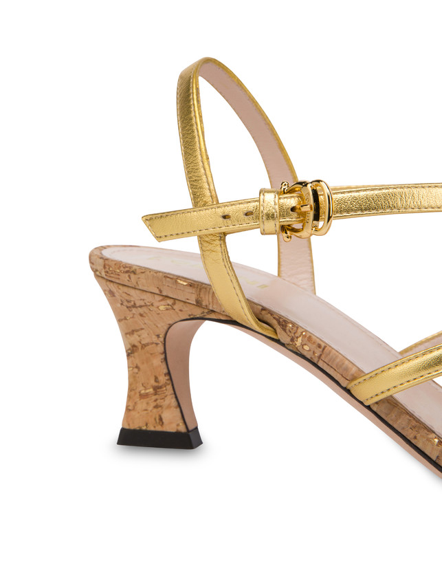 Costantinopolis laminated nappa leather sandals Photo 5